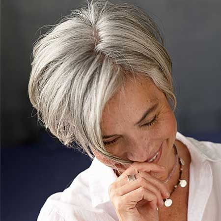 *** Best Short Haircuts for Older Women- i'd love to see the back of this and a full view of her face/sides but i think i like it.