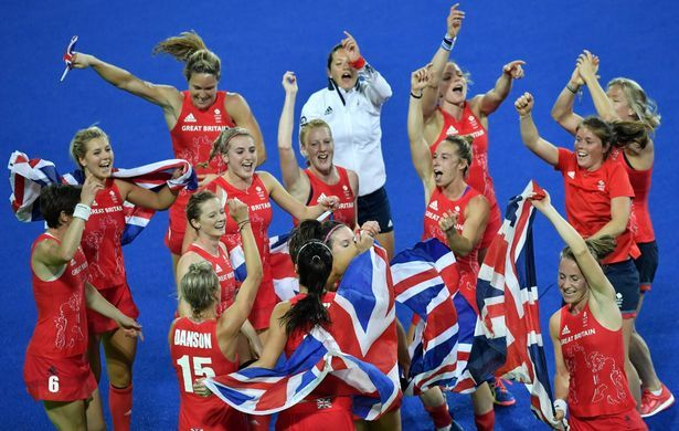 It is a first-ever gold for Great Britain in hockey