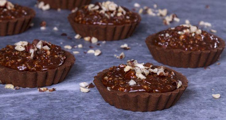 Ατομικά ταρτάκια σοκολάτας φουντουκιού