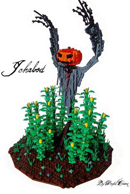 LEGO scarecrow. 'Ichabod' by derfelcadarn on Flickr