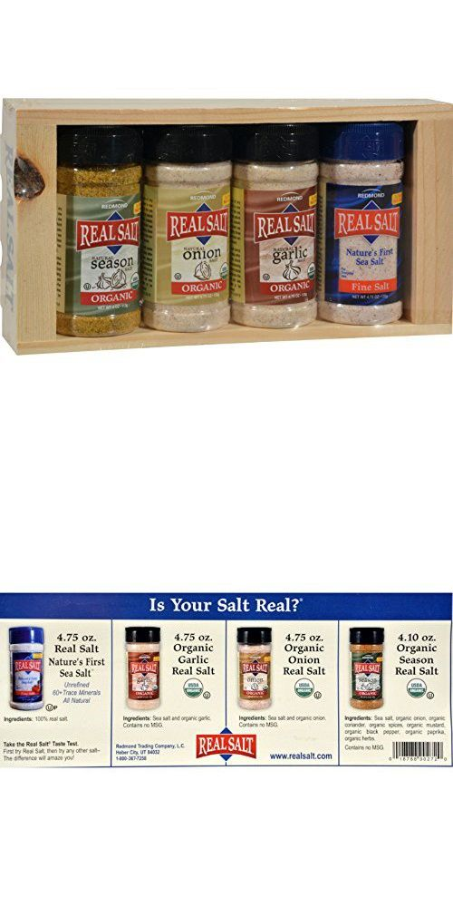 2 Pack of Real Salt Seasoning Gift Set - 4 Piece Set Gluten Free in 2018 | Herb, Spice & Seasoning Gifts | Pinterest | Spices, Salt and Herbs
