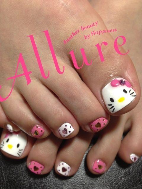 キティちゃん フットの画像 | 奈良 橿原八木 ネイルサロン Allure Nailのネイルデザインカ…