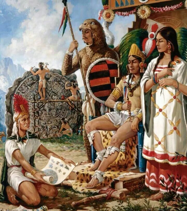 History and domination of the aztec indians to southern and central mexico