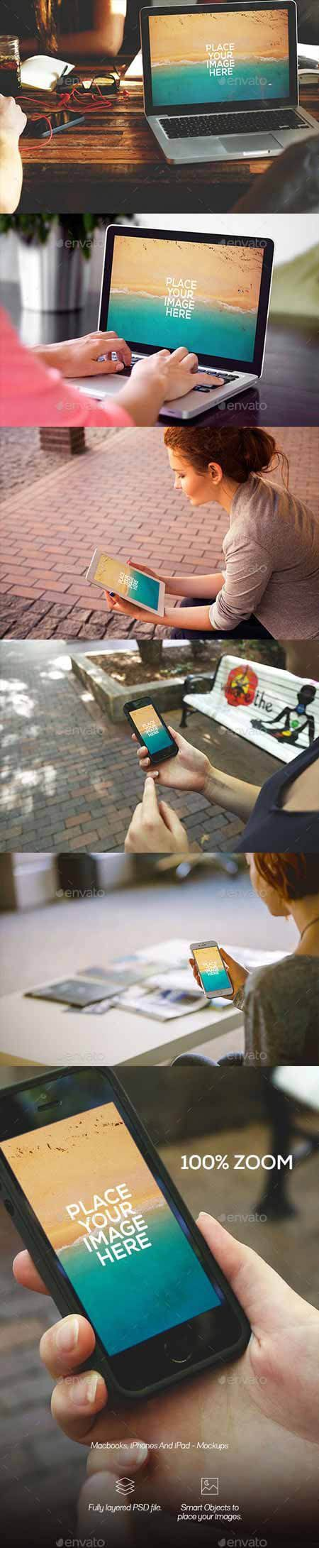 GR - Macbook, iPhones and iPad - Mockups
