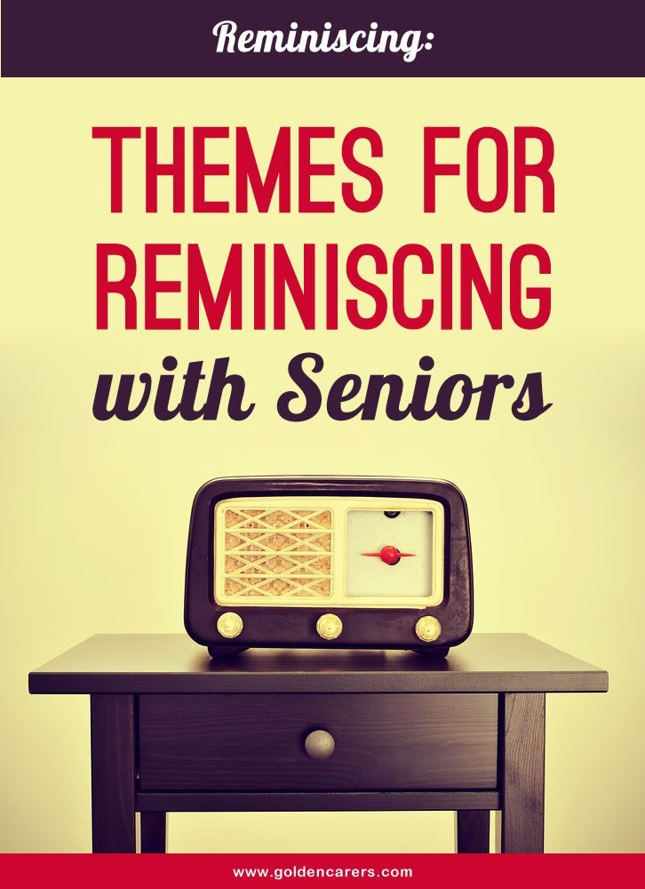 Sharing and recollecting memories with seniors in long term care helps them to affirm who they are and maintain self worth.