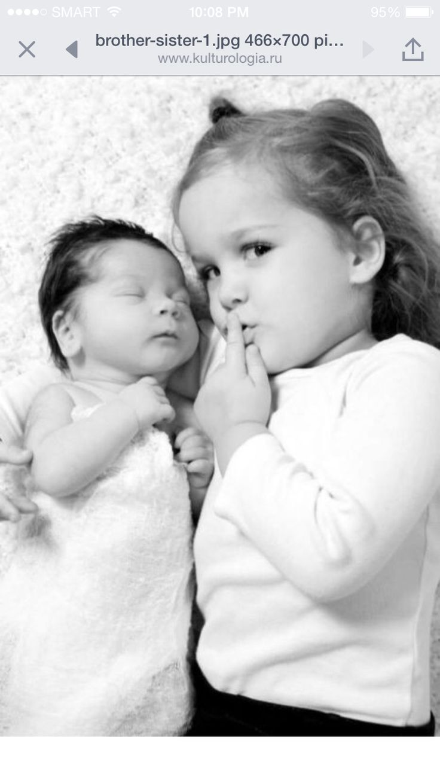 Siblings photo idea big sister