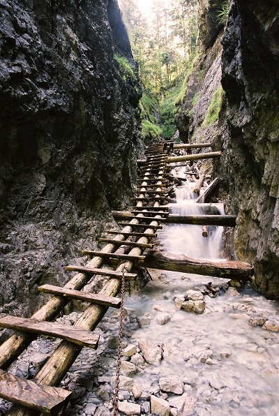This is a hiking path over a waterfall in Slovakia... pretty sweet!