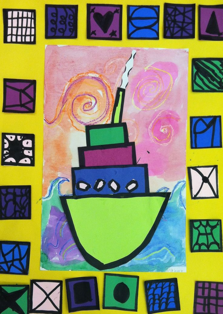 ART with Mrs. A: Second Grade Sailboats