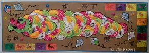 Dragon chinois : fresque collective