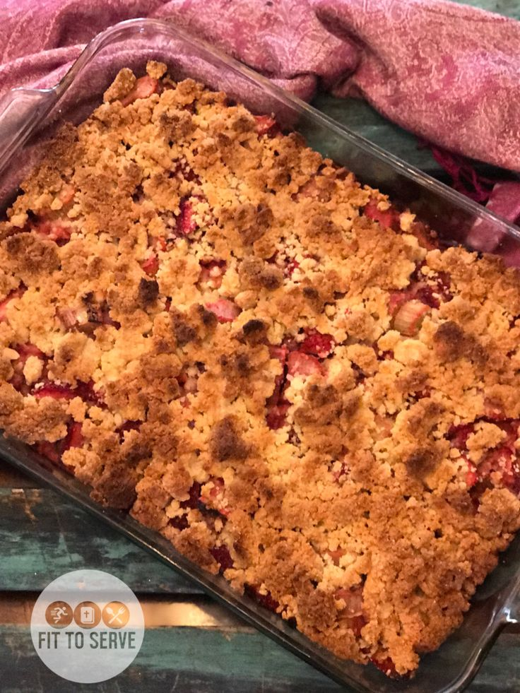 Low Carb Strawberry Rhubarb Bars a delicious keto friendly recipe that you can enjoy without ruining your macros.