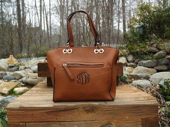 Monogram Tote Purse/ handbag / monogram bag by IFlewTheNest