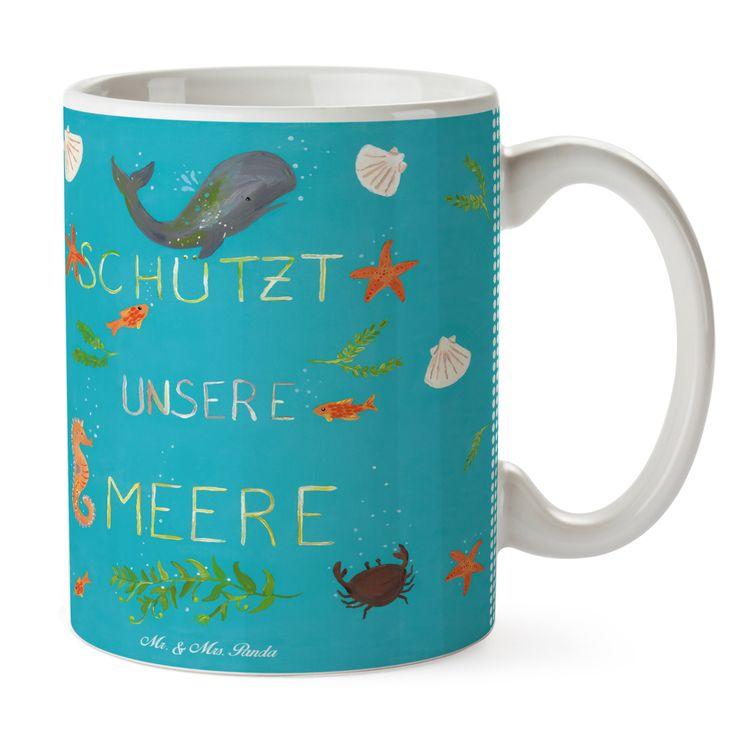 Tasse Schützt unsere Meere aus Keramik Weiß Das Original