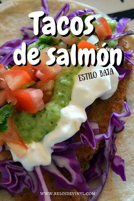 Tacos de salmón estilo baja
