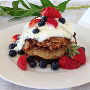 Because I always need a new recipe for a special occasion breakfast or pancake night dessert treat! coconut pancakes. Yum!