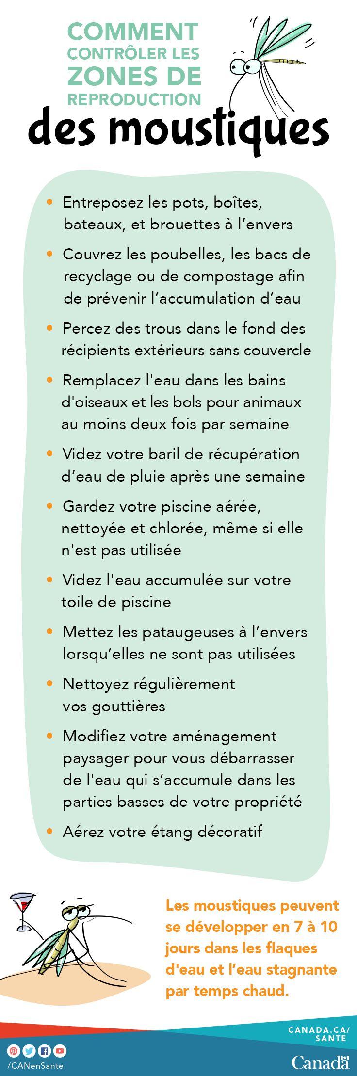Contrôlez les sites de reproduction des moustiques autour de votre maison et protégez votre famille contre les maladies comme le virus du Nil occidental avec ces conseils.   http://canadiensensante.gc.ca/product-safety-securite-produits/pest-control-products-produits-antiparasitaires/pesticides/tips-conseils/mosquitos-moustiques-fra.php?utm_source=pinterest_hcdns&utm_medium=social_fr&utm_content=apr25_mosquito6&utm_campaign=social_media_16