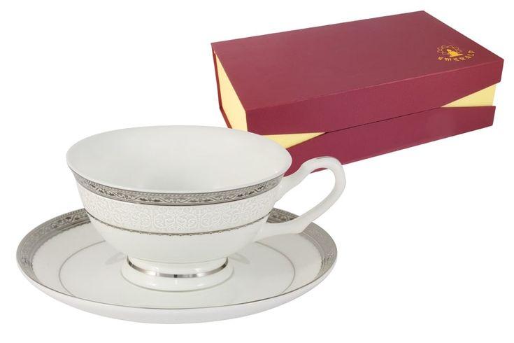 Чайный набор из костяного фарфора на 6 персон «Бостон»      Бренд: Emerald;   Страна производства: Китай;   Материал: костяной фарфор;   Коллекция: Бостон;   Количество персон: 6;   Количество предметов: 12 шт;   Объем чашки: 200 мл;          #bonechine #chine #diningset #teaset #костяной #фарфор #обеденный #сервиз #посуда  #обеденныйсервиз #чайныйсервиз #чайный  #чашка #кружка #набор #сервировка #cup #mug #set #serving #tea #чай