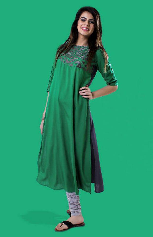 Price :- INR 2000  Design No. : UE264  Product Page :- http://www.unnatiexports.com/design/closeup/women-party-wear-kurtis-a-5-b-3.html