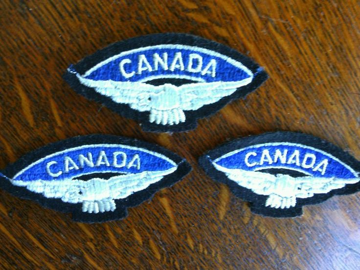 3 Embroidered Cloth Shoulder Wings Royal Canadian Air Force Flashes Badges WWll    eBay