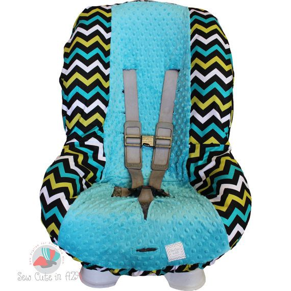 Lagoon Chevron Toddler Car Seat Cover by sewcuteinaz on Etsy, $40.00
