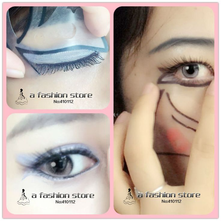 Quick Makeup Eye Stencil 7 Styles Cat Eyeliner Stencil For Eye Liner  Eye Nude Make-up Delineador Shadow Template Card Stencil