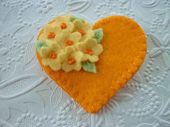 Hey, I found this really awesome Etsy listing at https://www.etsy.com/listing/111129155/felt-flower-brooch-heart-with-beaded