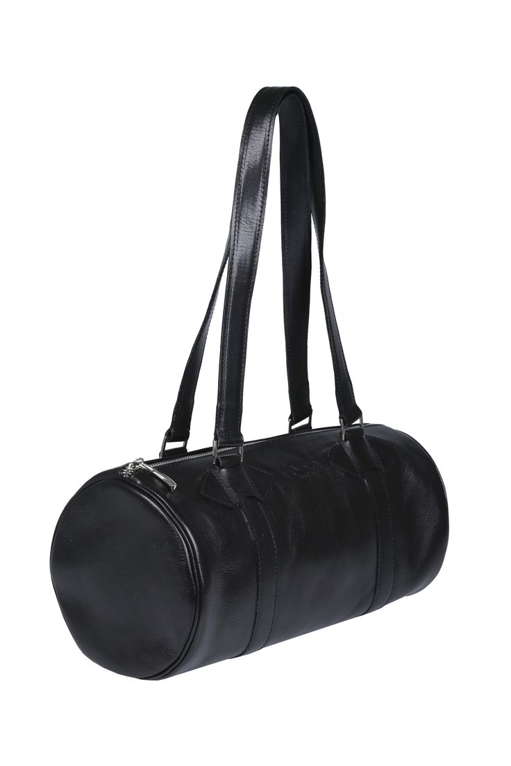 #black #leather #handbags #barrel #barrelbag