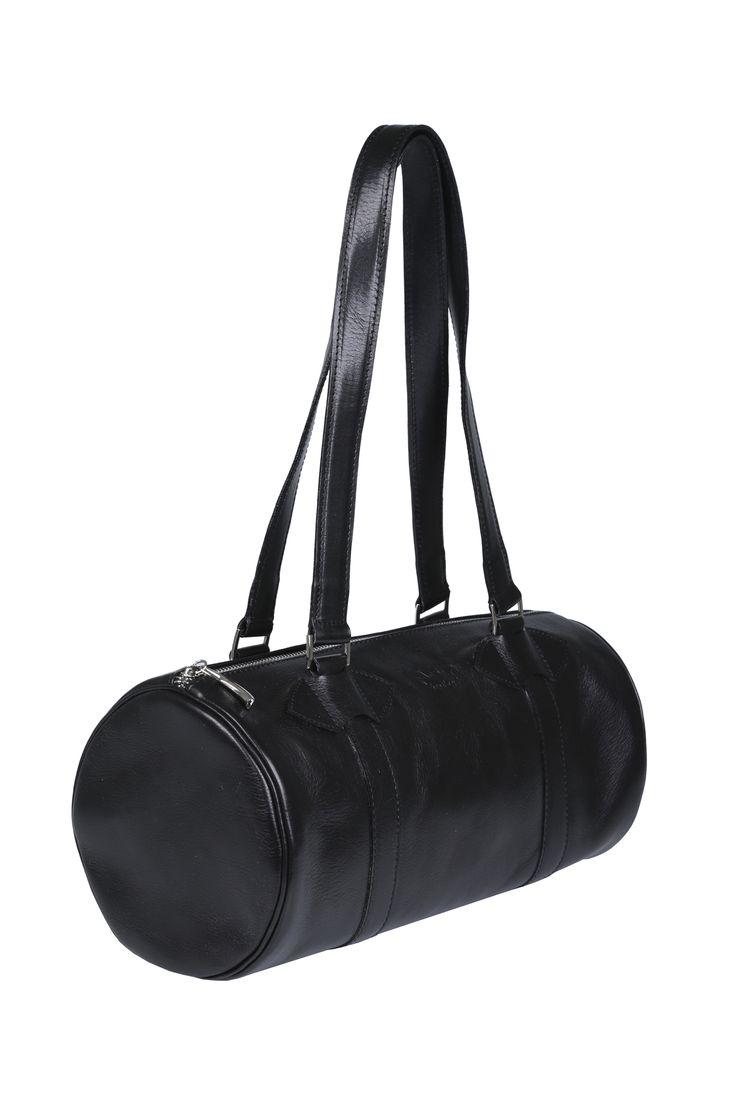 #black #leather #handbags #barrel #barrelbag