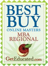 Best Buy MBAs Regional! Great work Continuing and Distant Education Department!