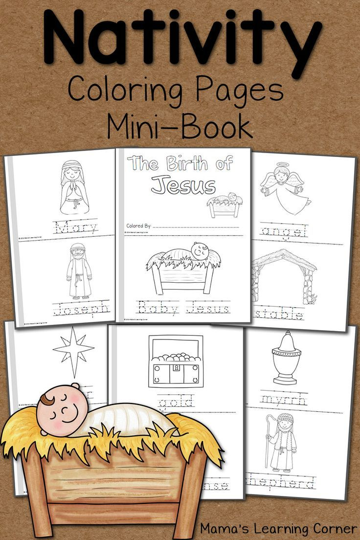 Childrens coloring pages of nativity - Free Nativity Coloring Pages For Your Preschooler Kindergartner Or First Grader Staple To