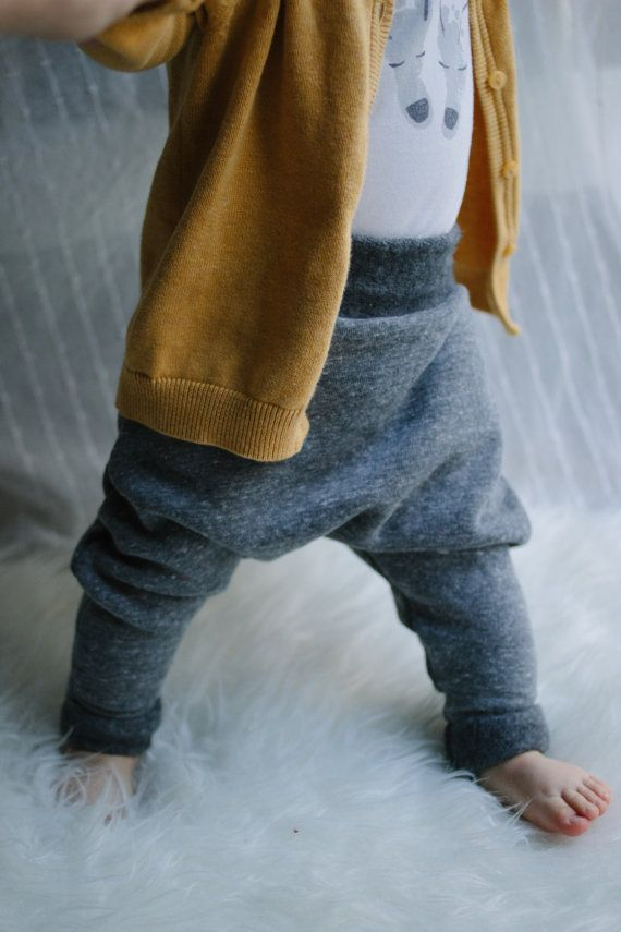 Grey Baby Harem Pants by AnchoreDeep on Etsy