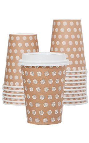 cool The #1 Most Stylish Disposable Coffee Cup on Amazon Prime - Classy 12oz Insulated Paper Cup To Go with Secure Tight Fitting Lids - Best Quality - 100% Satisfaction Guarantee - Qty 100 Cups & 100 Lids