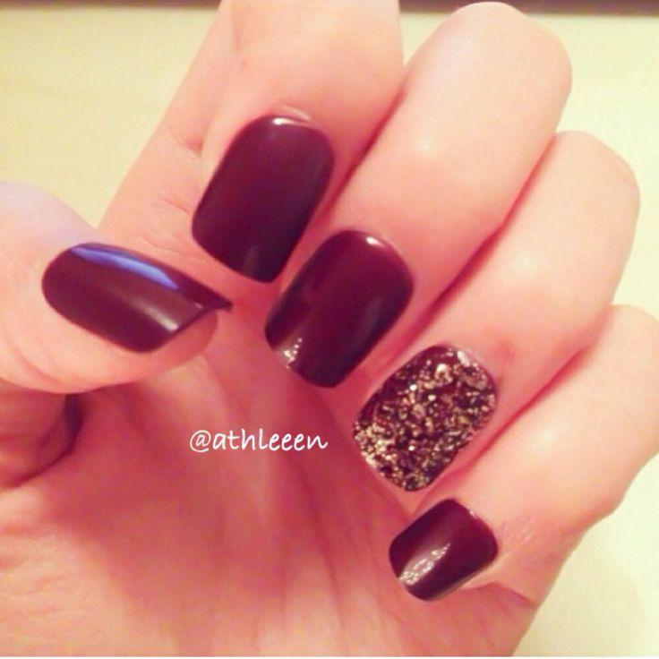dark red amp gold nails nails pinterest gold nails