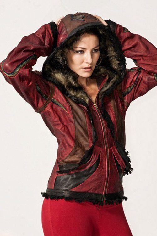 Rainbow Serpent Leather Jacket  - Women's