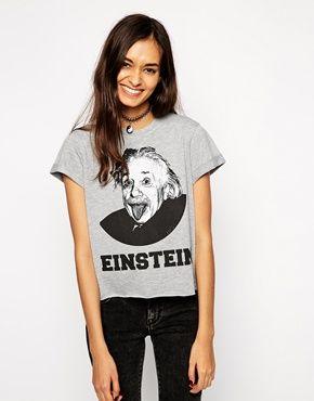 ASOS Boyfriend T-shirt with Einstein Print