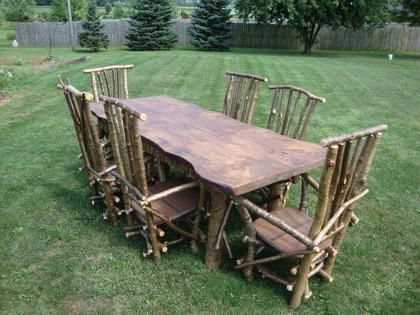 Around The Bend Willow Furniture Dining Table And