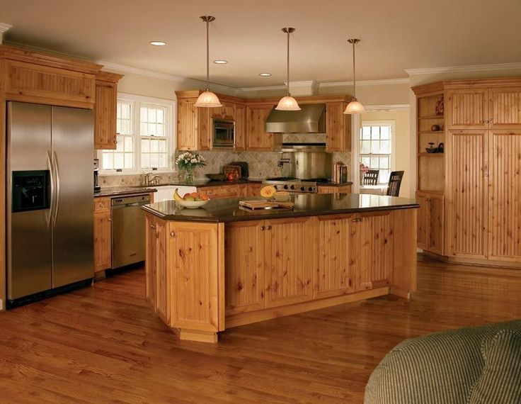 Without the knotty pine  Home Dreaming  Pine kitchen