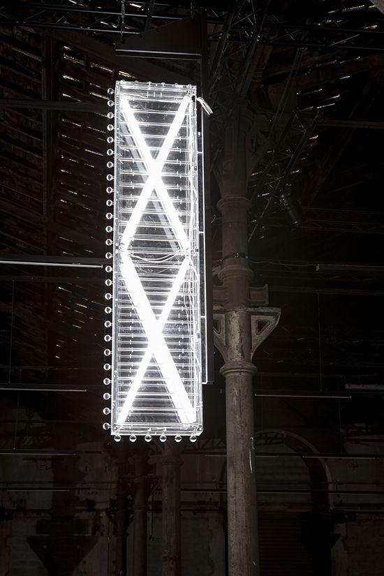 PHILIPPE PARRENO translucent acrylic glass, fluorescent tubes