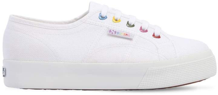 cd1bf60a4 Shop for 40mm Canvas Platform Sneakers by Superga at ShopStyle.com ...