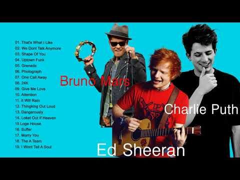 Top Best Songs Of Bruno Mars, Charlie Puth, Ed Sheeran - Greatest Hits Live Full Playlist - YouTube