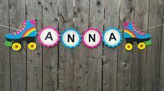 Patín patinaje cumpleaños fiesta Banner rodillo por CraftyCue