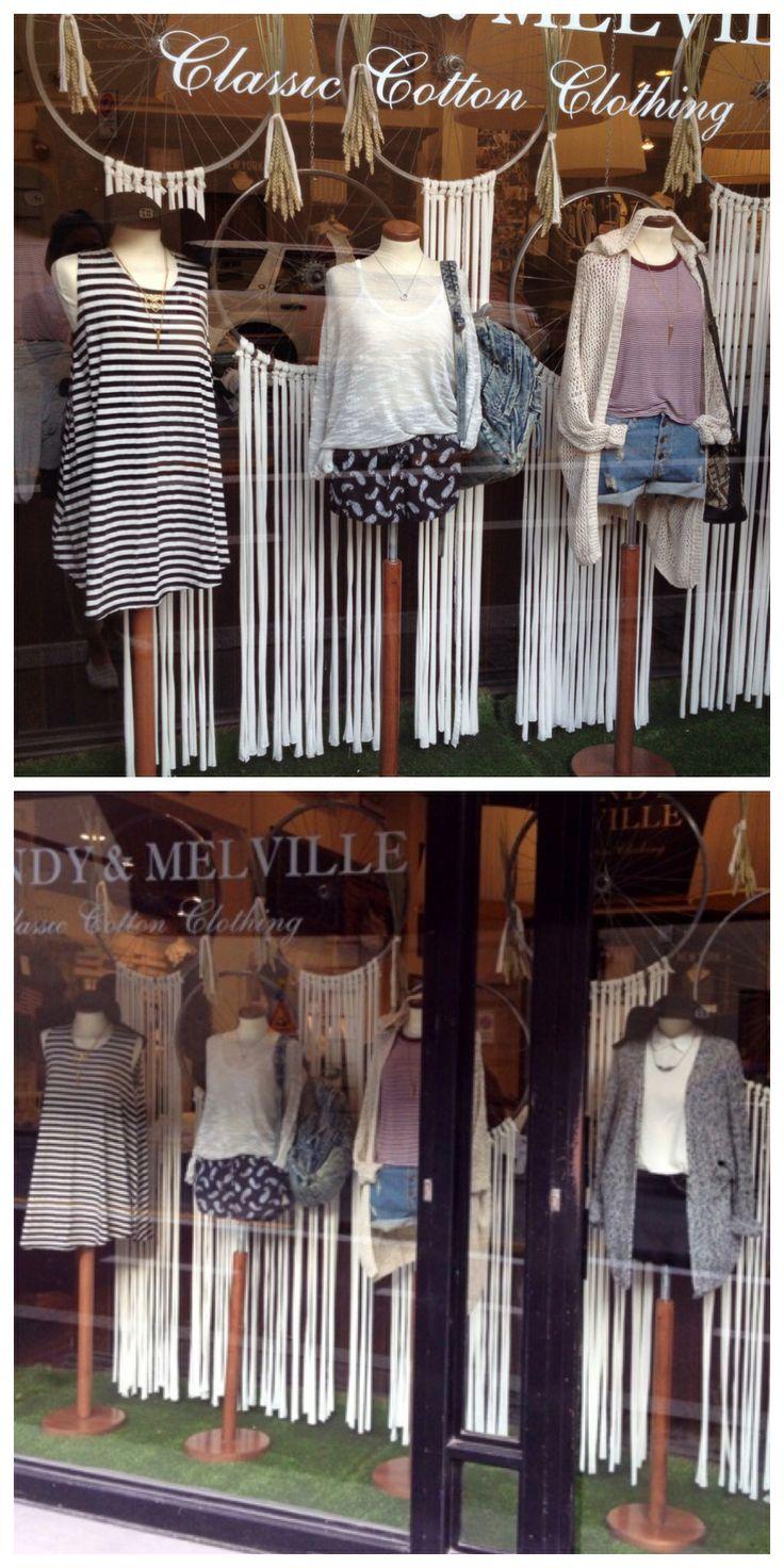 Bicycle wheels, grain and fringes - window display - store 1