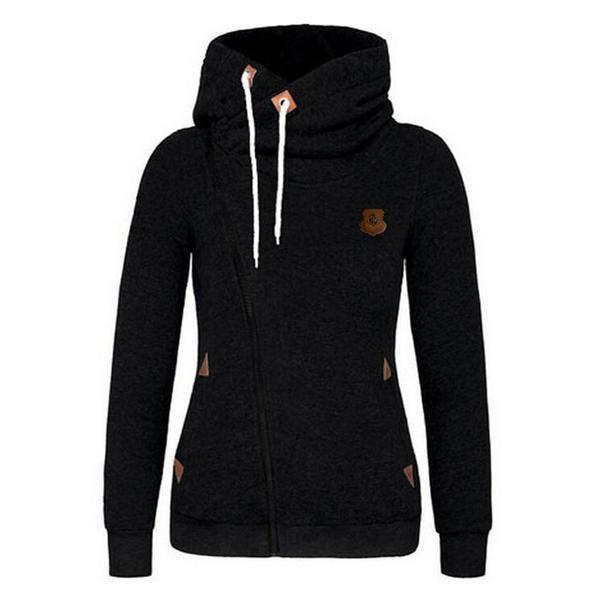 Elegant Winter Hooeded Sweatshirt Women Long Sleeve Pullover Streetwear Hoodies Pullover 2