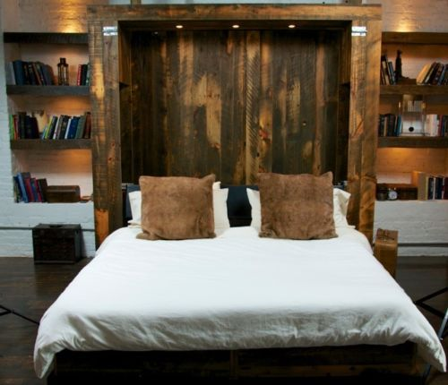 Reclaimed Barn Wood King Size Murphy Bed Reclaimed Barn