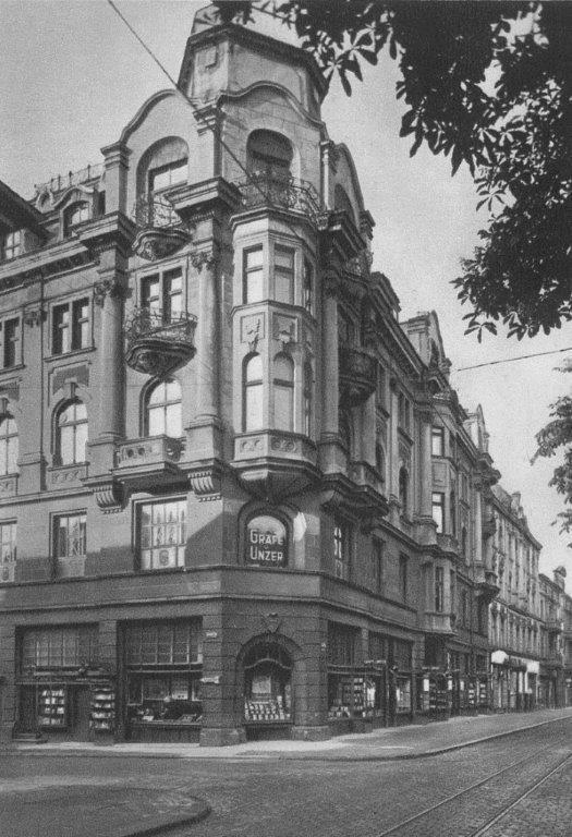 """Königsberg Pr. - """"Das Haus der Bücher"""" GRÄFE UND UNZER am Paradeplatz 6, ca. 1930"""