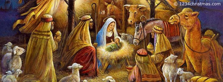 christmas scenes to post on facebook | Christmas Nativity Scenes Facebook Cover