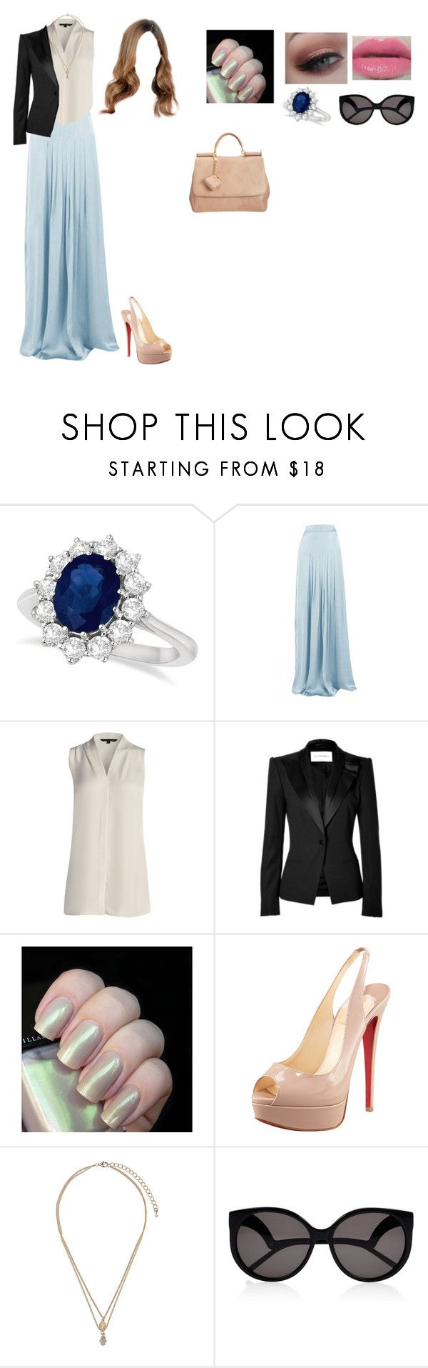 """Sans titre #118"" by julie-tomas ❤ liked on Polyvore featuring Allurez, Matthew Williamson, NIC+ZOE, Viktor & Rolf, Urban Decay, Christian Louboutin, Topshop, House of Harlow 1960 and Dolce&Gabbana"