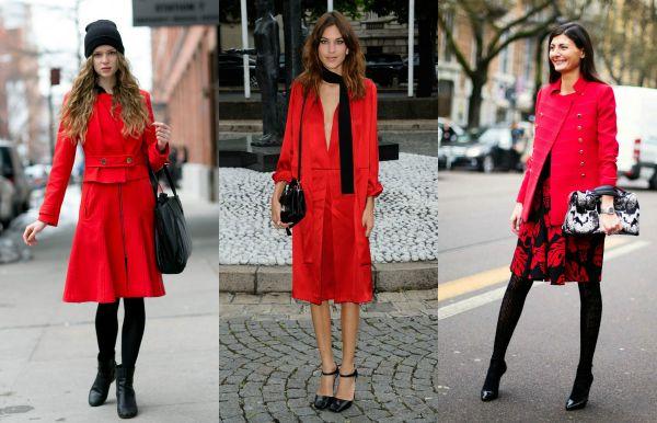 El rojo brillante es perfecto para darle vida a los looks de invierno. Si sos las que se aburren del negro y el gris topo, acá tenés una linda alternativa.