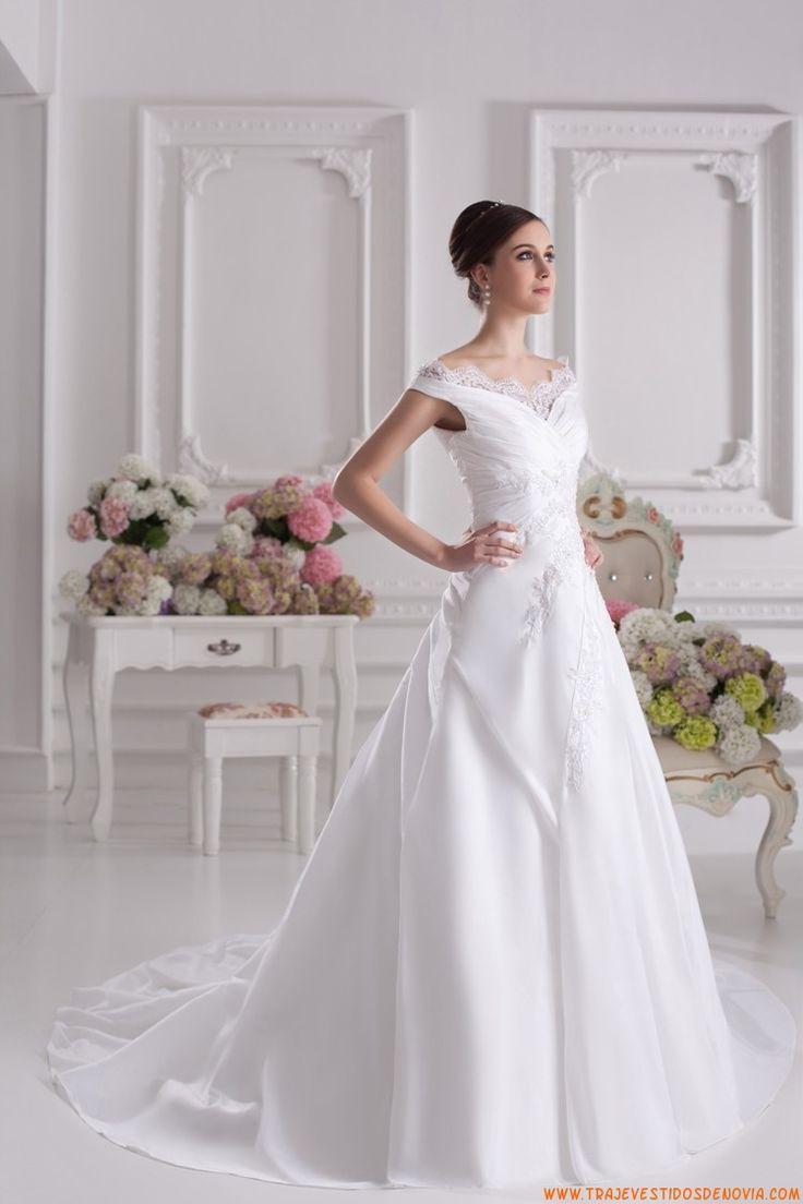 Traje vestidos de novia de tafetan 2014