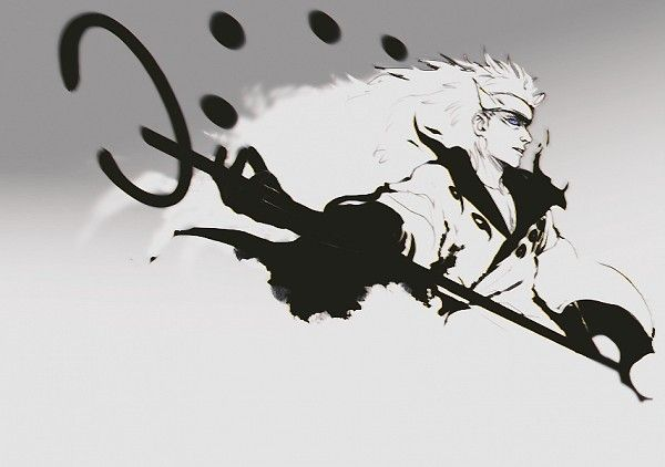 Tags: Anime, NARUTO, Uchiha Madara, Gray Background, Pixiv Id 300960