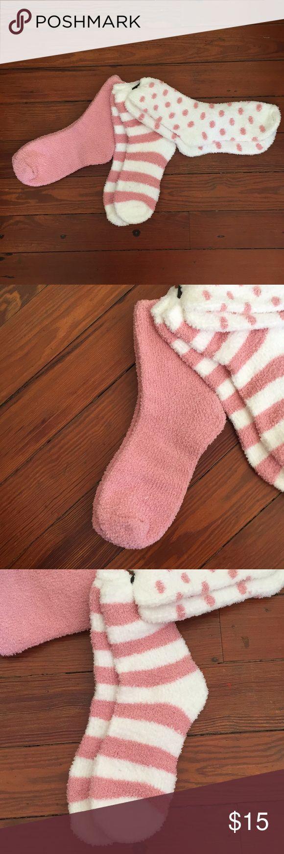 (Macy's) pack of 3 soft thick socks Brand new. Pack of 3 socks. Thick soft and warm. Macy's Accessories Hosiery & Socks